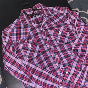 Slim Fit Western Style Button Down